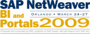 SAP NetWeaver BI and Portals 2009