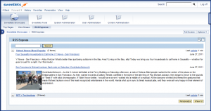 RSS Express inside the latest version of the SAP NetWeaver Portal - NW 7.30
