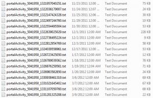 SAP Activity Data Collector (ADC) log files