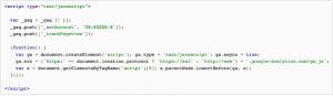 Google Analytics Page Tag Sample
