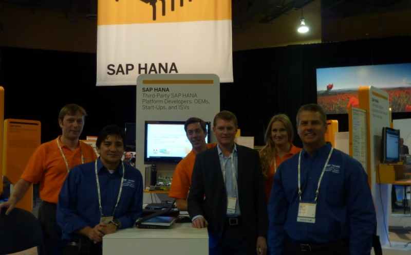 SAP and Sweetlets on the ISV part of the main HANA booth