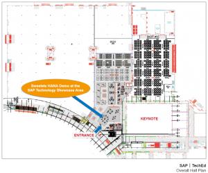 SAP TechEd 2012 Hall Plan and Sweetlets HANA Demo