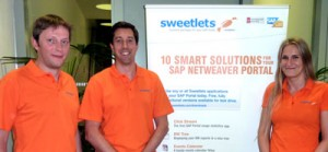 Look for our Sweetlets portal experts in the HANA Section of SAP's Technology Showcase area