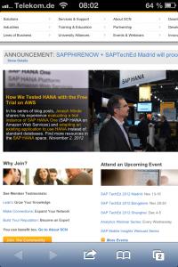 Josef Minde SAP HANA SCN Blog Post Feature via iPhone