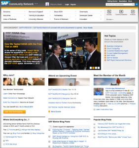 SCN Homepage Josef Minde SAP HANA