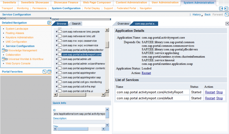 SAP Portal Activity Report Services on NW 7.0 Portal
