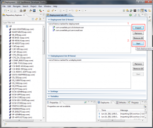 Deploying the NW 7.30 Portal application files using NWDS