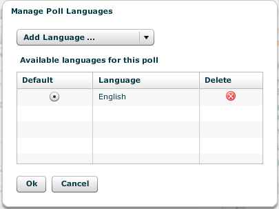 Choose from over 6 different language options with Pretty Poll